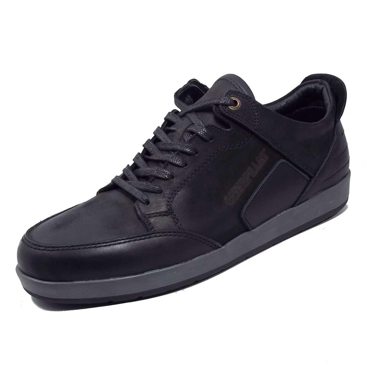 کفش اسپرت چرم کترپیلار مدل آلفرد مشکی