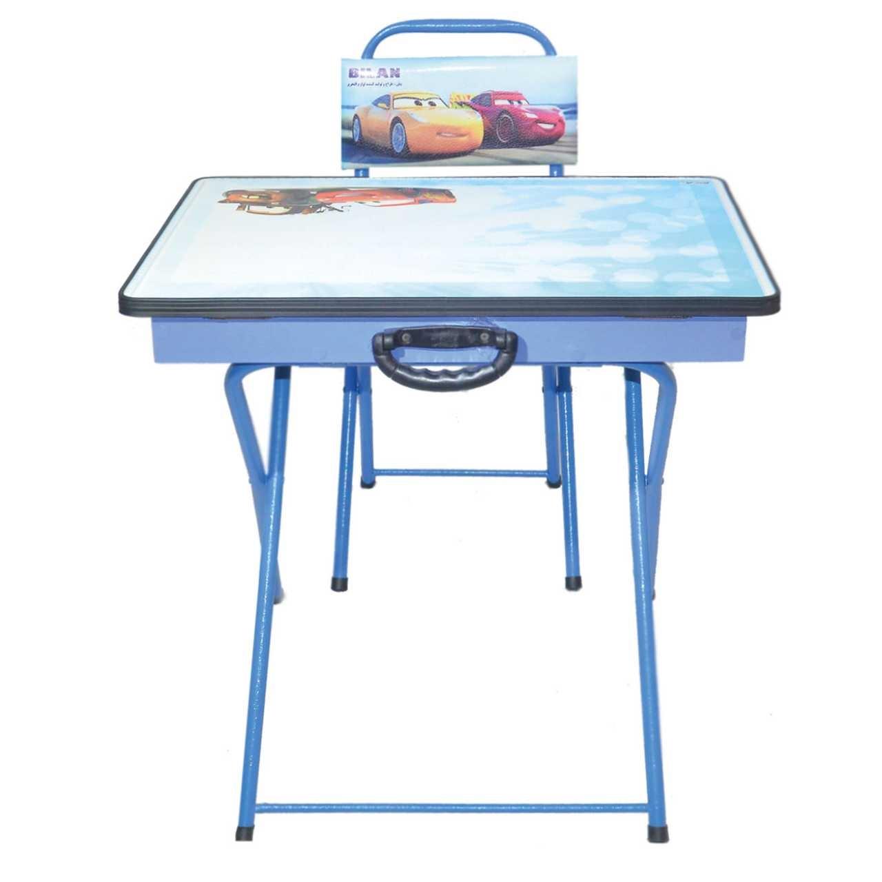 میز و صندلی تحریر تاشو بیلن مدل M1-طرح Cars