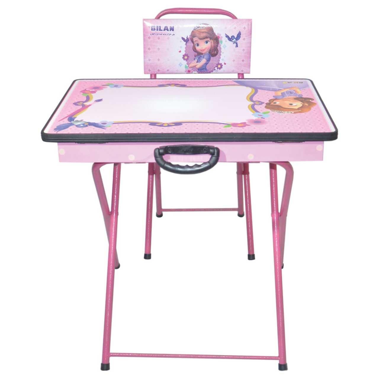 میز و صندلی  تحریر تاشو بیلن مدل M1-طرح Cinderella