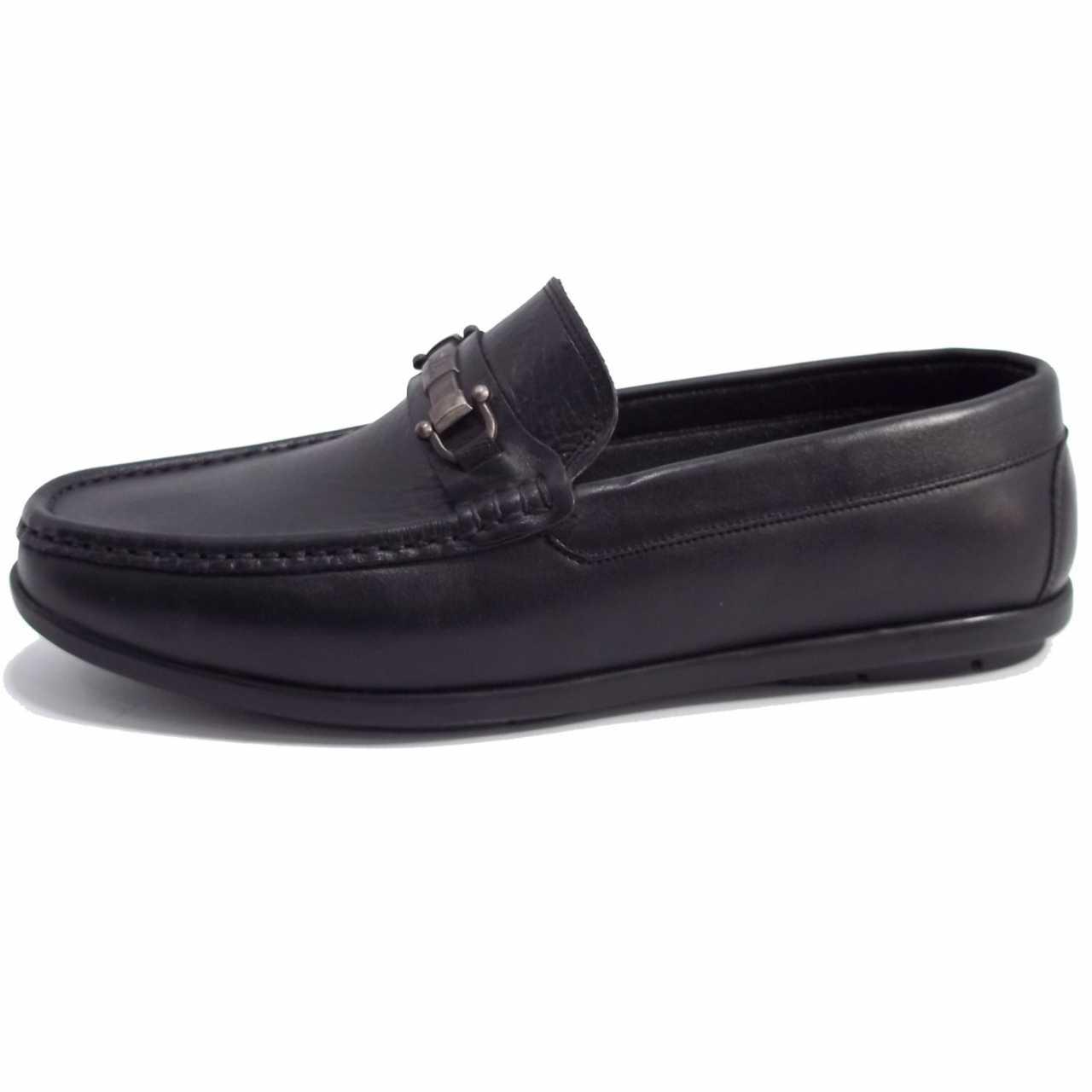 کفش کالج چرم مدل اکو سگکدارمازاراتی  مشکی