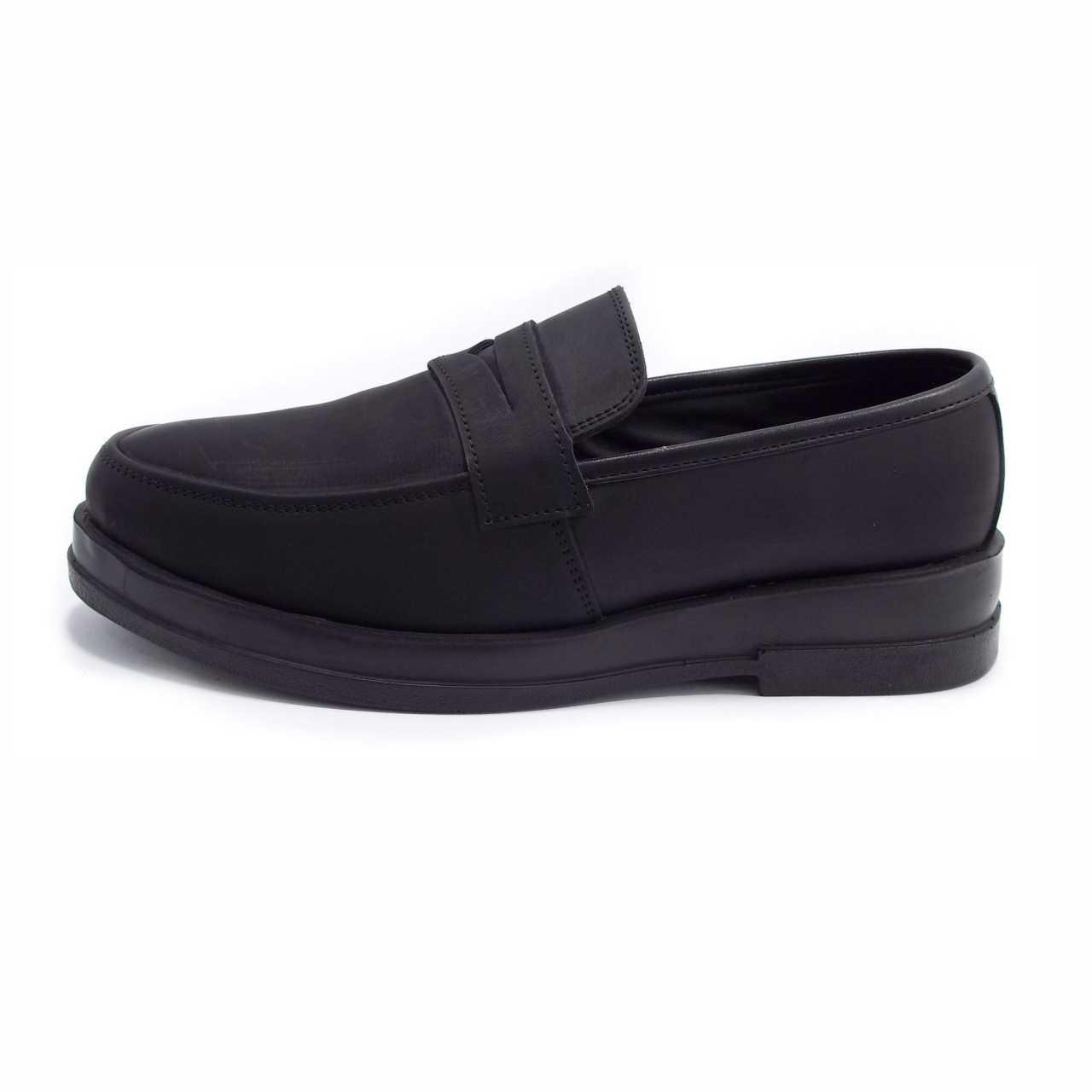 کفش کالج مدل فرمال ساده مشکی