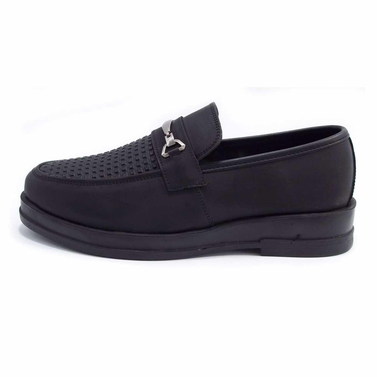 کفش کالج مدل فرمال پانچی مشکی