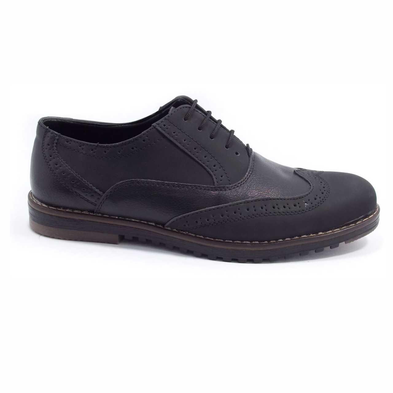 کفش اسپرت چرم هشترک مشکی