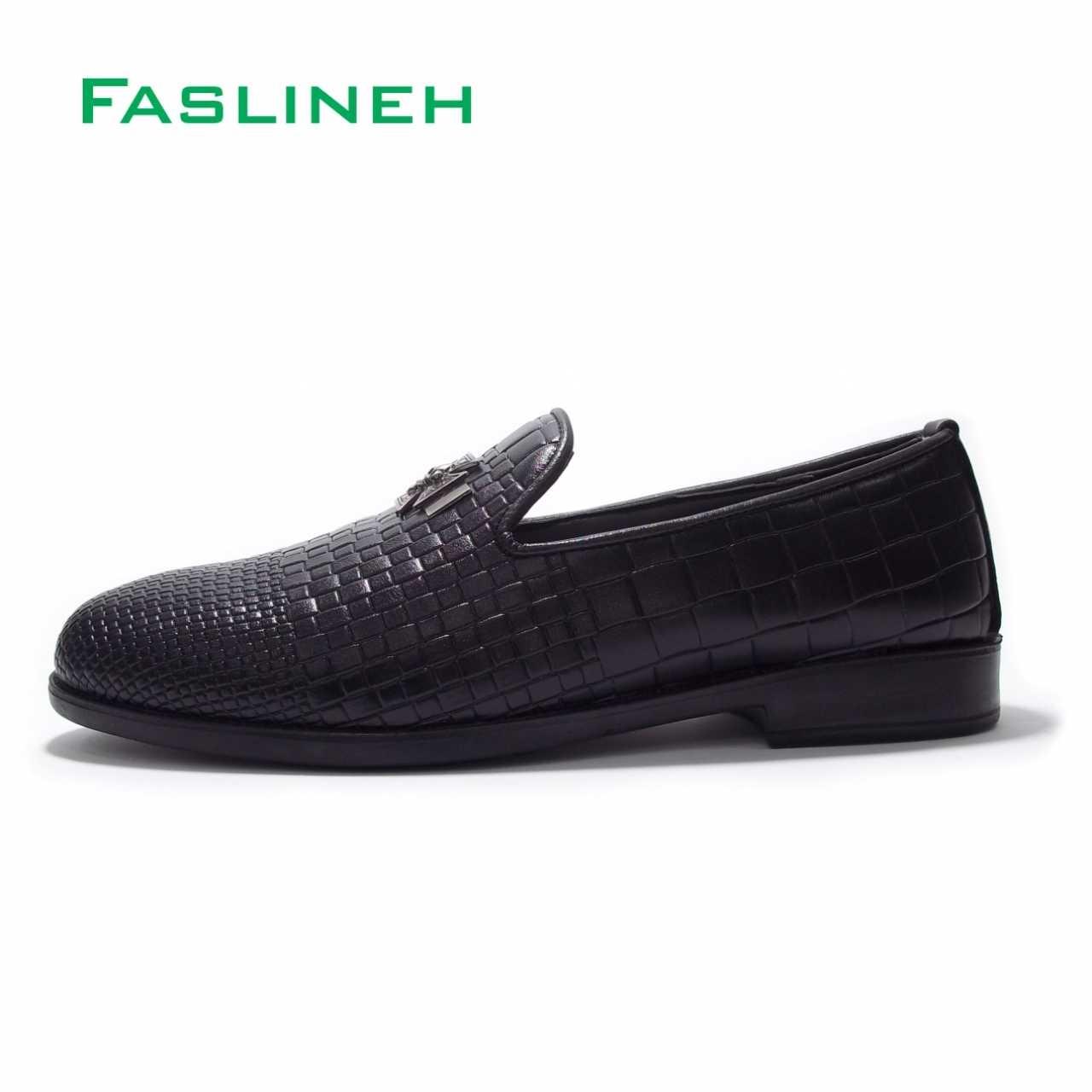 کفش کالج مدل کروکودیل پلاس مشکی