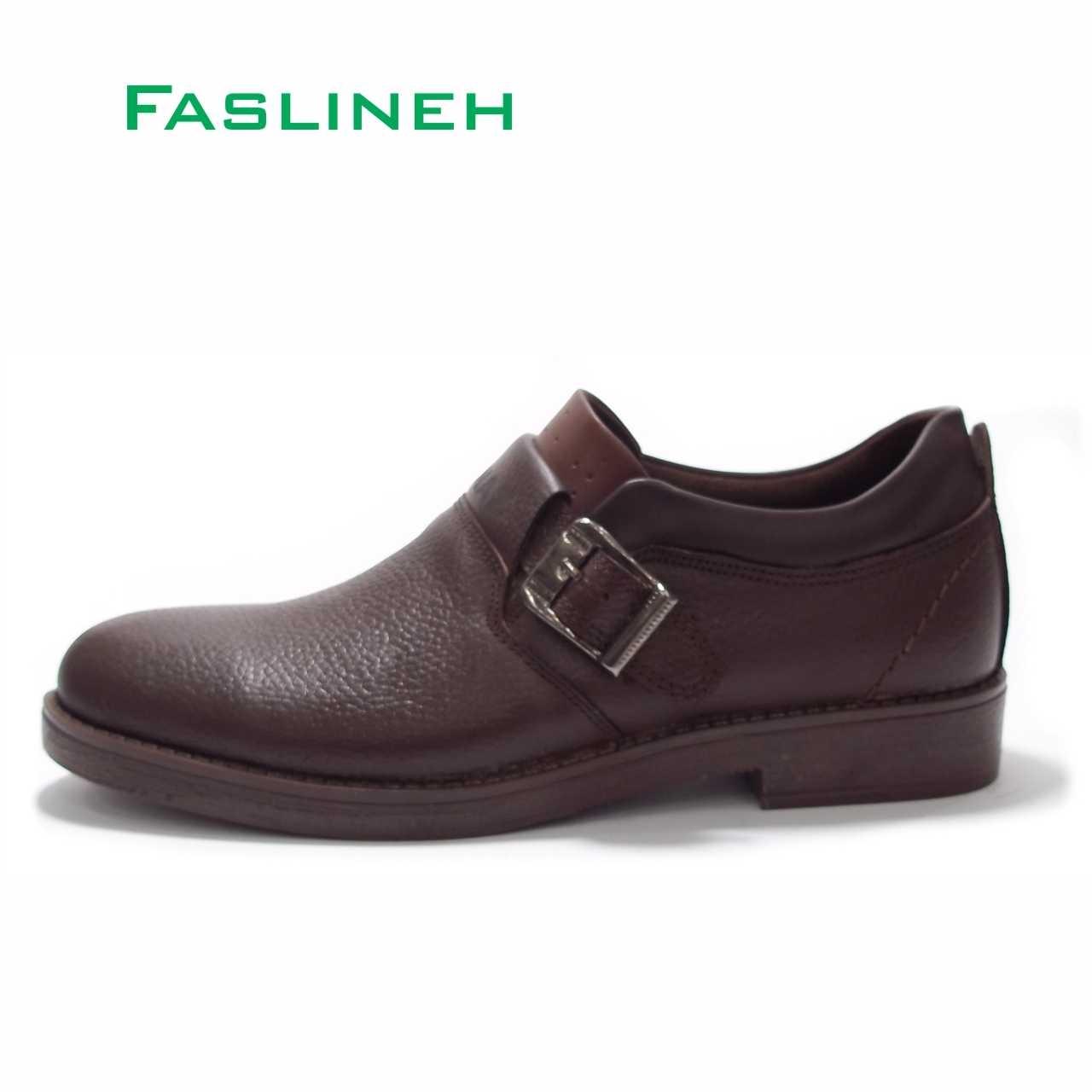 کفش چرم  طرح اکو قهوه ای مدلERC2