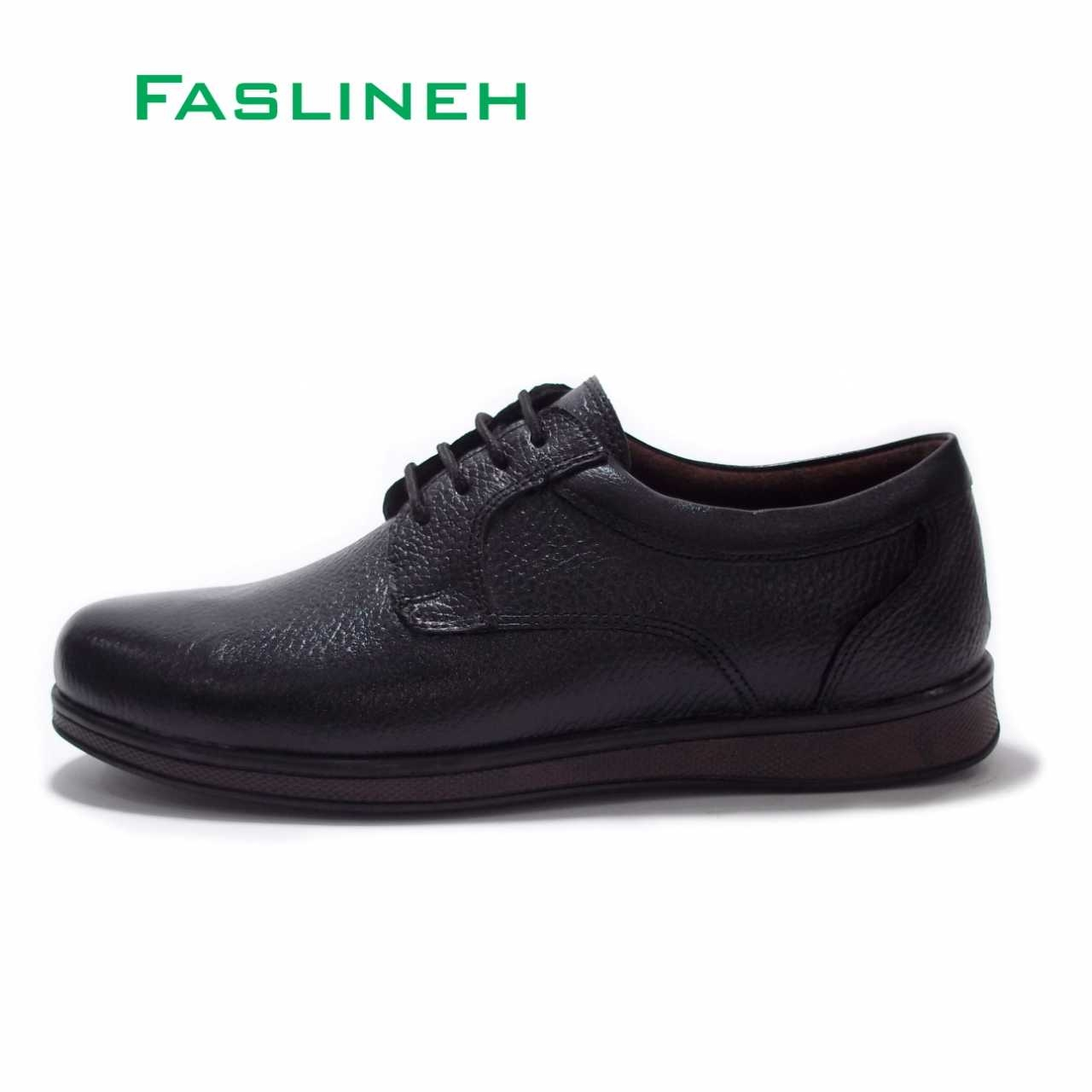کفش چرم  طرح اکو قهوه ای مدلEBP2