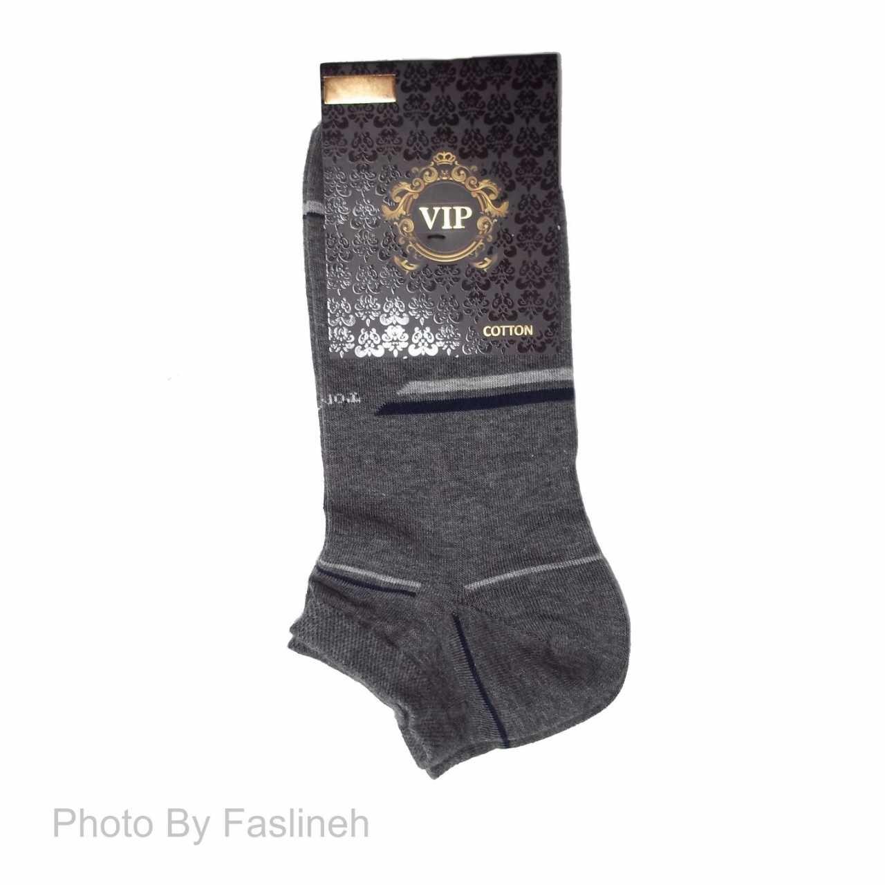 جوراب مچی مردانه مدل VIP طوسی