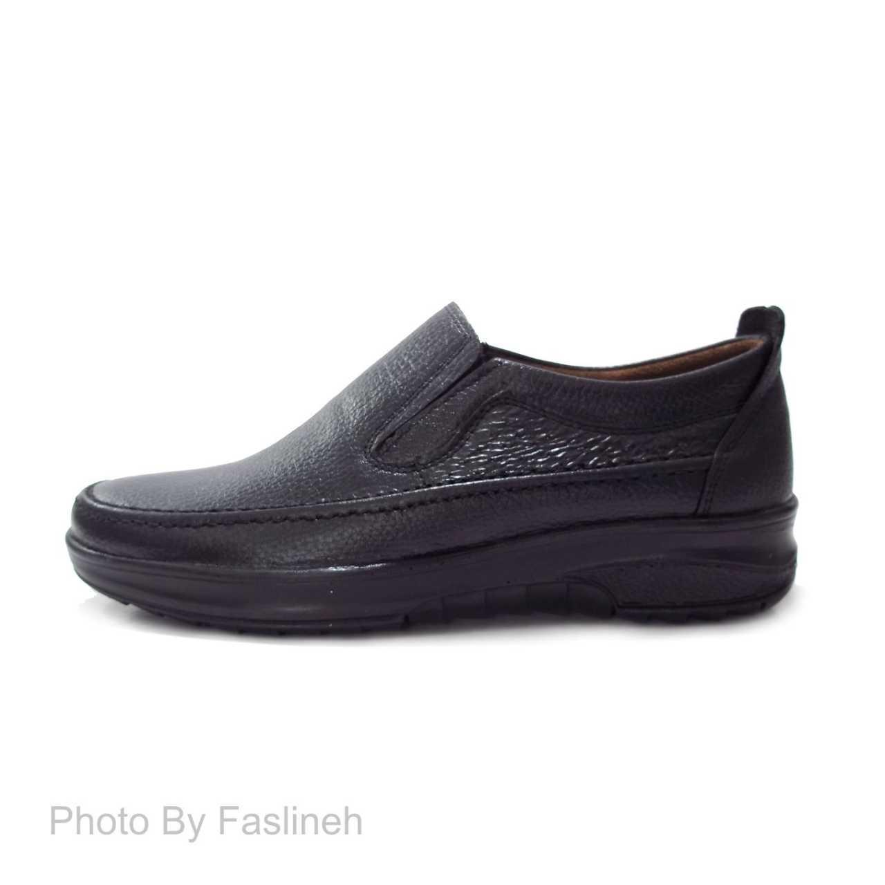 کفش چرم نمونه مشکی طرح اکو NE0835
