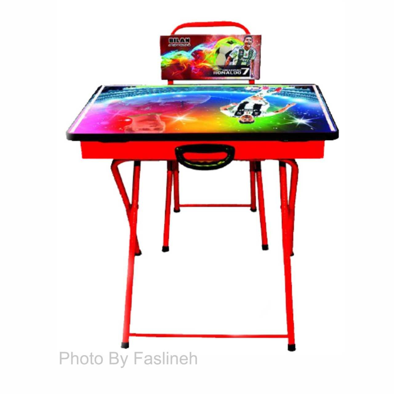 میز و صندلی تحریر تاشو بیلن مدل M2  رونالدو پسرانه