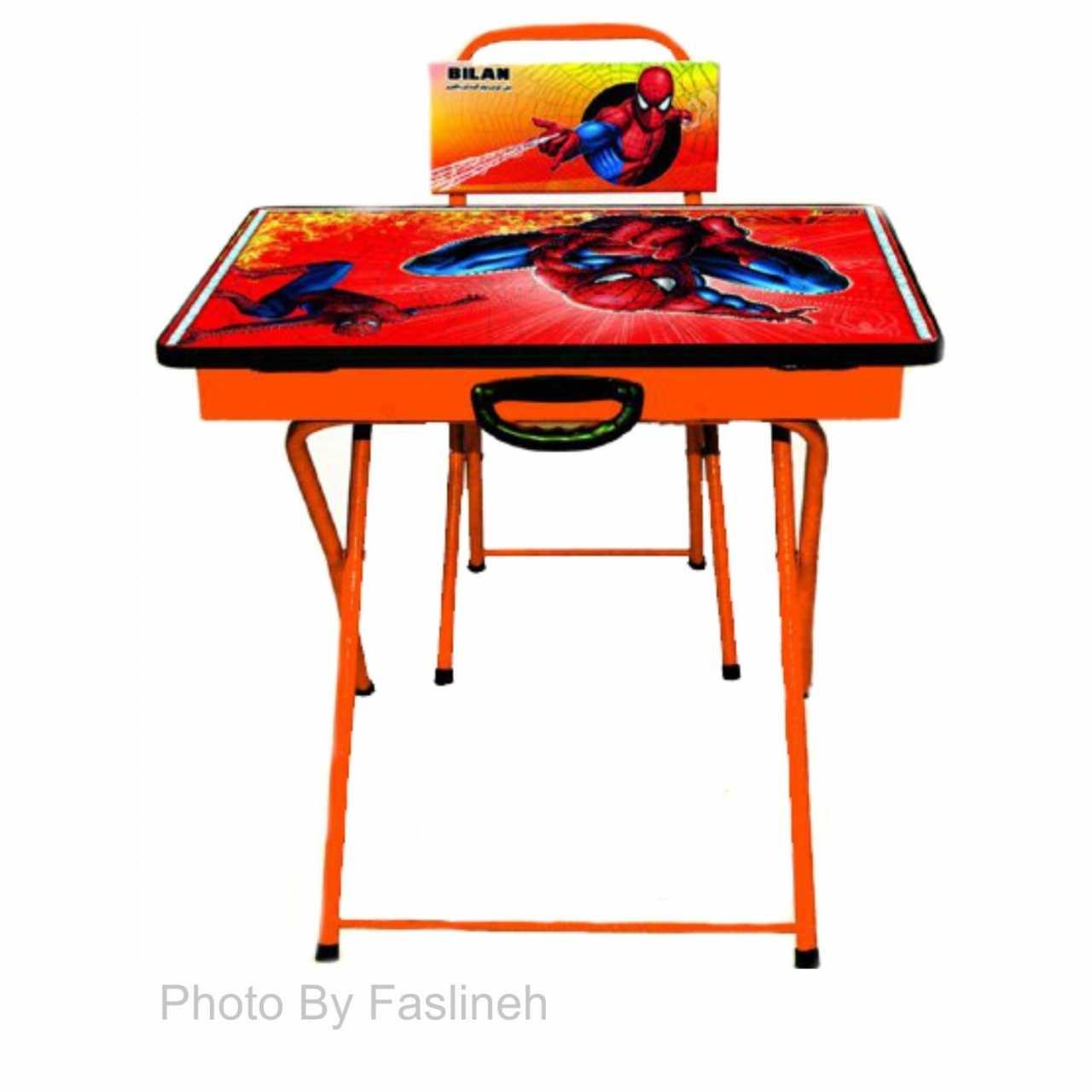 میز و صندلی تحریر تاشو بیلن مدل M2  مرد عنکبوتی