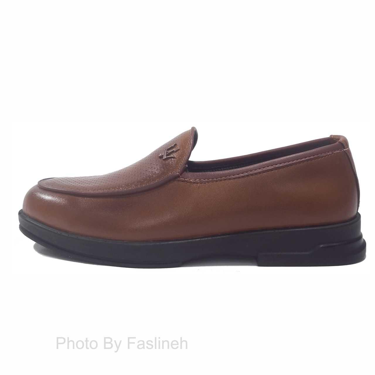 کفش کالج طرح فلیپ پلین قهوه ای pp3654