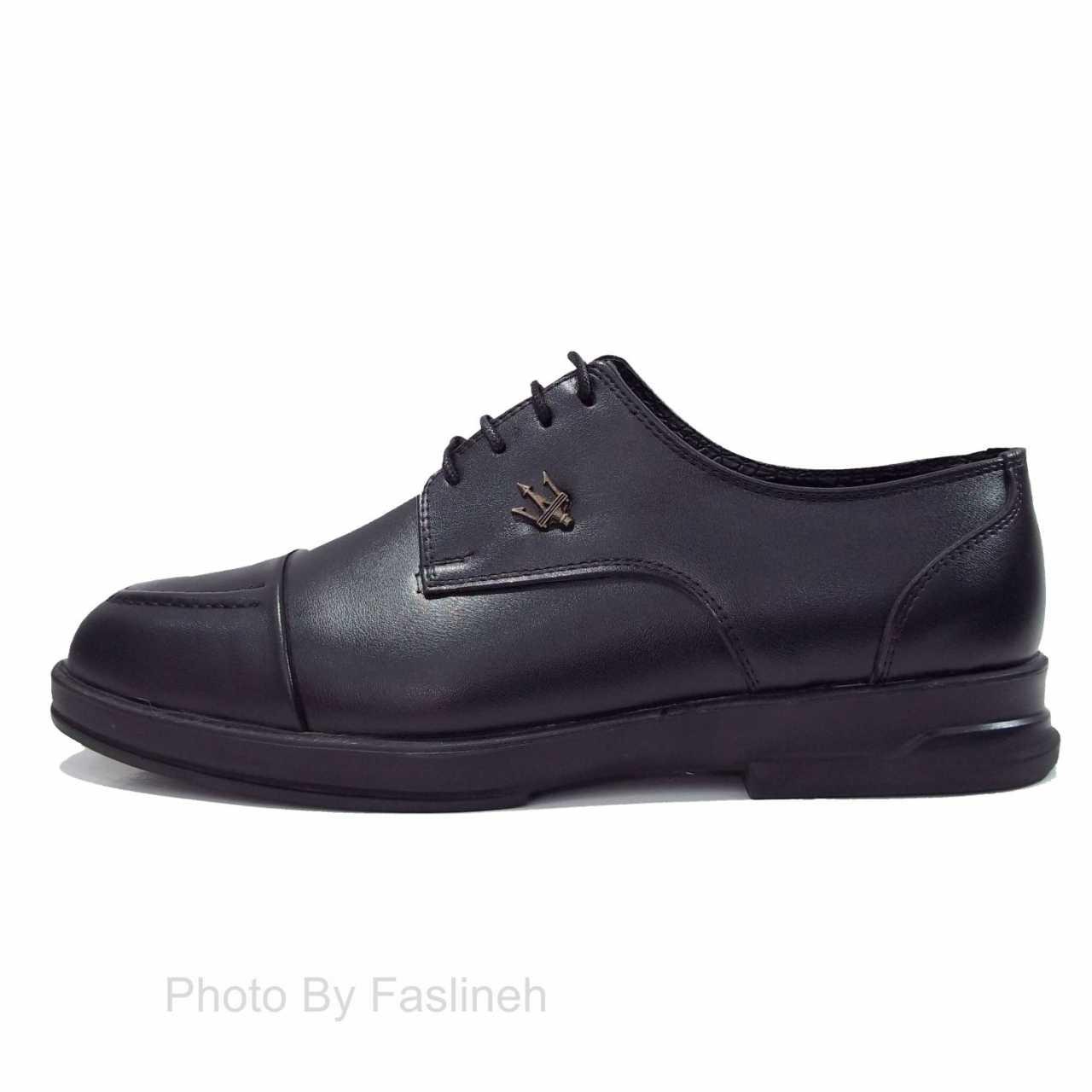 کفش اسپرت ساده  برت  مازاراتی مشکی BM45